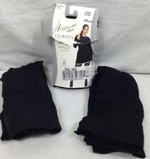 3 Pack Hanes Curves Control Top Black Opaque Tights Size 1X/2X (190-210Ib) Women