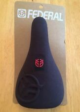 NEW Federal Royale Slim Pivotal BMX Seat Black & Red Odyssey Cult Bike Saddle