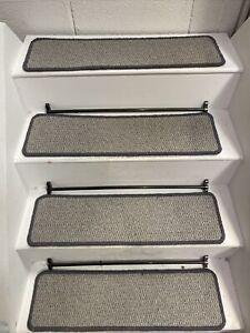 14  CARPET STAIR TREADS, WOOL LOOP PILE 70cm X 20cm HARDWEARING - EXTRA LARGE