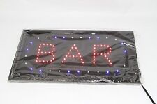 LED Animated Neon Light Simple BAR Business Sign For Club Bar