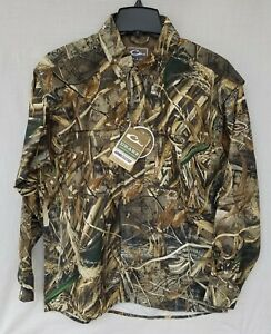 New Men's Drake Camo Wingshooter's Long Sleeve Shirt Real Tree Max5 DW2610 015