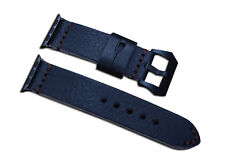 24mm Apple Watch Genuine Leather Watch Band Steel Buckle Strap For iWatch 42mm