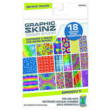 RoseArt Graphic Skinz Design Studio Groovy Skinz Pack Transfer Refill Kit