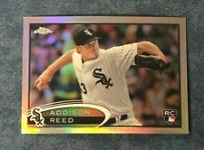 2012 TOPPS CHROME REFRACTOR ADDISON REED  ROOKIE CARD #166