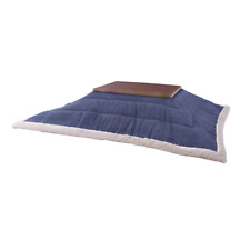 FUTON Kotatsu Table Comforter Navy Blue Blanket KK-142NV Azumaya F'Kolme-USA NEW