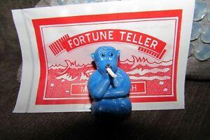 BLUE VINTAGE 1960'S TOY MAGIC SMOKING MONKEY & FORTUNE TELLER FISH
