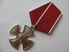 """RUSSIAN MEDAL AWARD """"ORDER OF COURAGE AND VALOR""""  WITH DOCUMENT"""