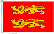 More details for lower normandy france flag with rope and toggle - various sizes