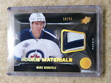 11-12 UD SPx Rookie Materials #RM-MS Patch MARK SCHEIFELE #02/25