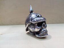 Harley Shift knob German Skull ALUMINUM handmade, hot rod, harley,hood ornament