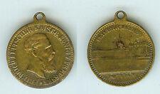 Alte Medaille Anhänger Friedrich Deutscher Kaiser König von Preussen