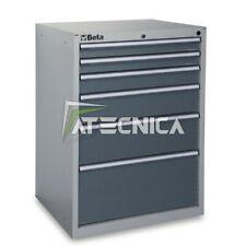 Cassettiera fissa industriale BETA C35 6G con 6 cassetti grigia 700x600xH1000