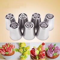 Stainless Steel Russian Tulip Icing Piping Nozzles Pastry Decoration 7/Pcs