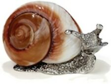 """""""Snail"""" Pewter Snail Shell Sculpture #1155 (Real shell rest is pewter)"""