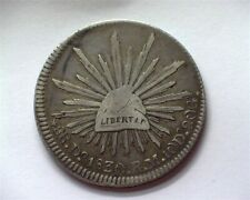 MEXICO 1830-DORM SILVER 8 REALES VERY FINE+