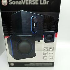 LBR USB 2.1 Computer Speakers with Bass Subwoofer and Dual Stereo Satellite