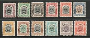 LABUAN  [ NORTH BORNEO ] SG 117-28 1902 DEFINITIVE SET M/M