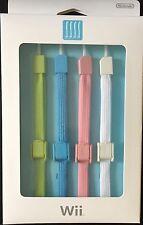 4 officiel de sécurité Bracelets Pour NINTENDO WII/WII U Remote Controllers-Neuf