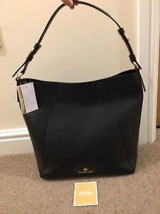 Michael Kors Lucy Large Leather Hobo Bag Black BNWT RRP £285