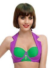 DC COMICS LICENSED THE JOKER SWIM TOP bathing bikini Licensed NWT Size SMALL