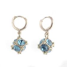 Be Fashion Women Long Drop Hoop Crystal Dangle Stud Earrings Jewelry