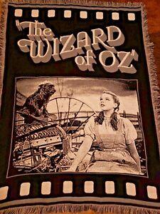 The Wizard Of Oz Tapestry Blanket Black White Grey Dorothy Movie Scene Toto