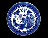 """Vintage 9"""" Porcelain Dinner Plate, Classic Blue Willow Pattern, Made in Japan"""