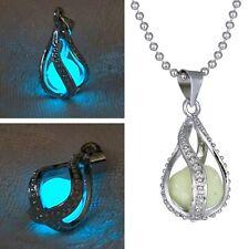 NEW Fashion Women The Little Mermaid's Teardrop Glow in Dark Pendant Necklace