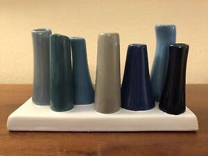 CHIVE POOLEY Multi-Color Ceramic Flower Vase 8 Eight Bud Vase Chic Modern Decor
