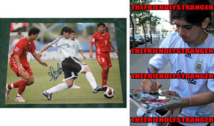 """EVER BANEGA signed Autographed """"ARGENTINA"""" 8X10 PHOTO - PROOF - World Cup COA"""