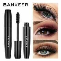Black 3D Silk Fiber False Lash Mascara Waterproof Eyelash Extension BANXEER