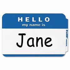 "700 - Blue  ""Hello My Name Is"" Name Badges - Tags Labels ID Stickers Peel Stick"