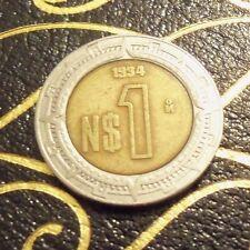 1994 1$ Bi-Metallic Estados Unidos Mexicanos Mexico Coins Pesos