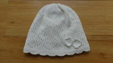 BABY GIRL EARLY DAYS WHITE KNITTED HAT 6-12 MTHS HARDLY USED GREAT CONDITION