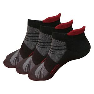 3 / 6 Pairs Mens Low Cut Ankle Performance Cotton Cushion Athletic Running Socks
