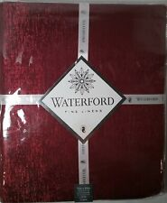 "WATERFORD Lunar 70"" X 84"" seats 6-8  Burgundy Red Holiday Christmas Metallic"