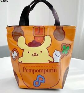Pom Pom Purin PU Tote Bags Handbag Lunch Bag storage bag zip fashion new
