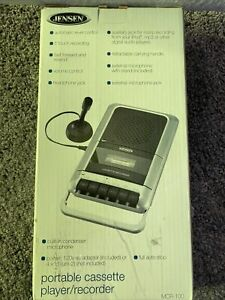 New JENSEN Portable cassette player/recorder AC adapter included Model MCR- 100