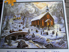"New 300 Piece Christine Carey Art Puzzle""Winter Gathering"" Large Format 18""x24"""