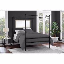 Metal Canopy Platform Bed Frame Headboard Bedroom Furniture Modern Full Size