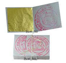 100 x Blattgold 24 Karat Feingehalt 999/1000 Echtgold Naturgold E175 Essbar