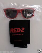 SDCC Comic Con 2013 EXCLUSIVE Red 2 Movie promo Koozie and Sunglasses