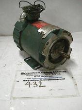 Reliance DC motor T56H1101, .33hp, 1725, 56C, armature 90v, field 50/100v, TENV