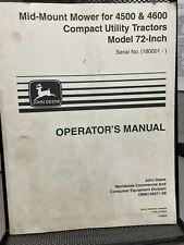John Deere 72 Mid Mount Mower For 4500 4600 Utility Tractors Omm136071 D 2