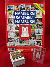Panini Hamburg sammelt Hamburg 1. Serie Satz komplett + Album = alle 216 Sticker