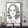 Ozzy Osbourne/Black Sabbath Word Art Portrait Print/Gift/Collectable FREEPOSTUK