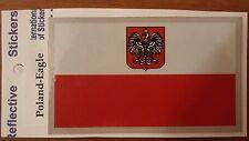 BRAND NEW BEST QUALITY POLAND FLAG VINYL STICKER ADHESIVE DECAL REFLECTIVE AUTO