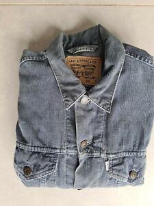 Mens Levis Grey Cord Trucker / Chore Jacket MEDIUM White Label Vintage