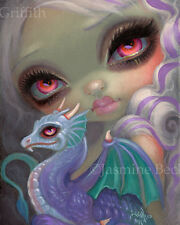 Jasmine Becket-Griffith art print SIGNED dragonling purple dragon Violet Icing