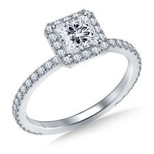 1.00 Ct Diamond Engagement Beautiful Ring 9k White Gold Stylish Rings Size G H
